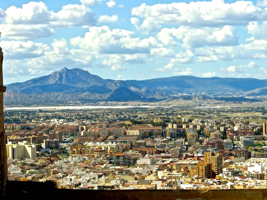 View of Alicante from the Castillo de Santa Barabara.