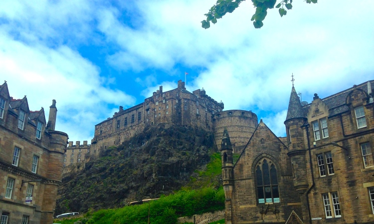 View of the castle from Grassmarket.