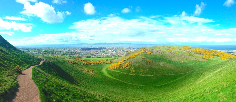 Breathtaking panoramic view, about midway to Arthur's Seat.
