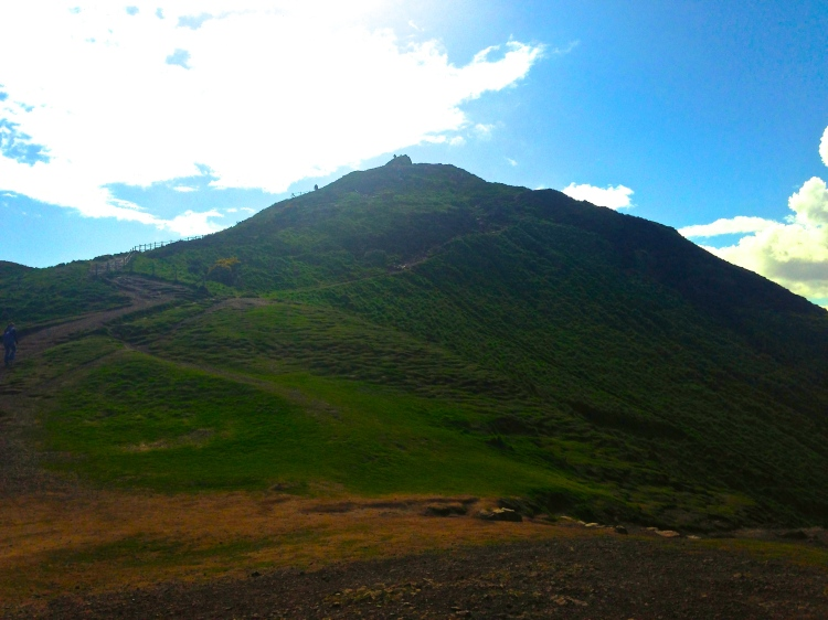 I stared up at the mountain, praying I'd be able to reach the top without much difficulty.