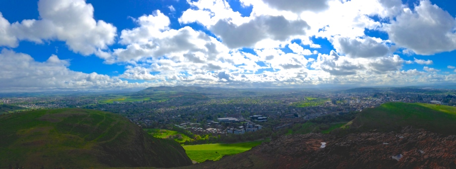 Another panoramic shot, from the very top of Arthur's Seat.