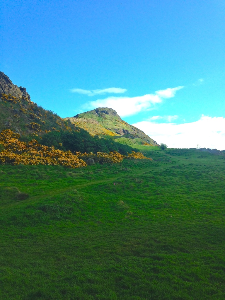 View of Arthur's Seat from the bottom of the hill.